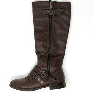 Top Moda | Women's Boots Brown w/ Buckles Size 6.5